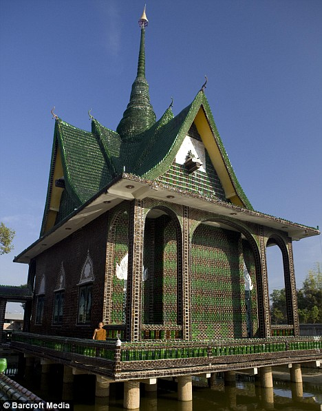 Eco-Architecture & Ecological Living: Buddhist Temple Made of Beer ...