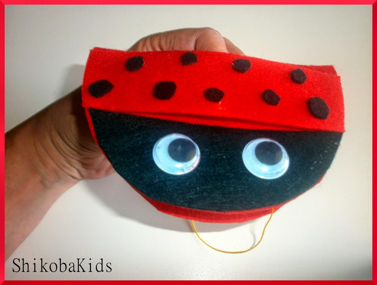 Shikoba Kids: Mariquita - atrapa pulgones DIY