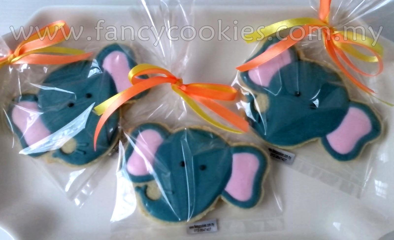 fancy cookies gajah - elephant