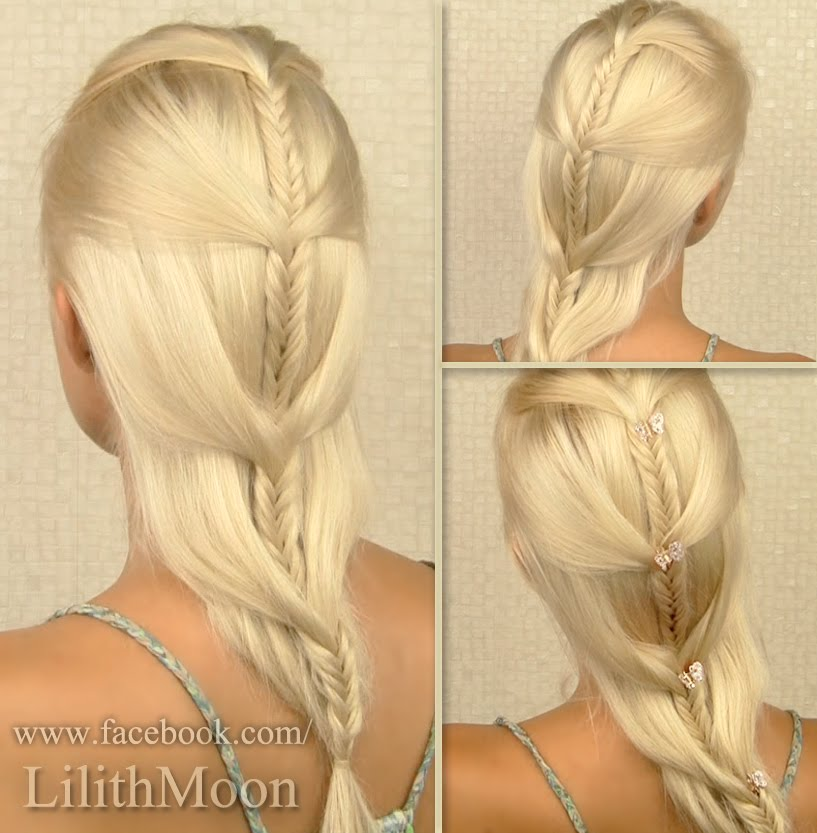 From Video Tutorial Cascading French Fishtail Braid For Medium And Long Hair