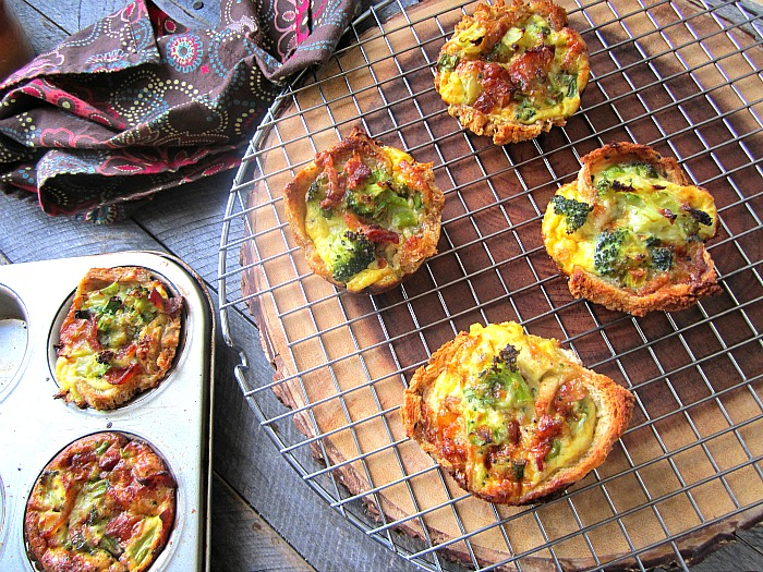 Stacey SnacksQuiche Toast Cups w/ Broccoli  Bacon