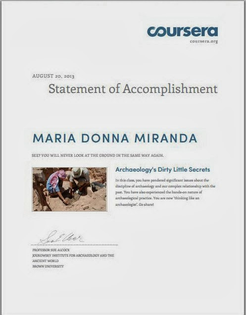 Donna My First Coursera Certificate
