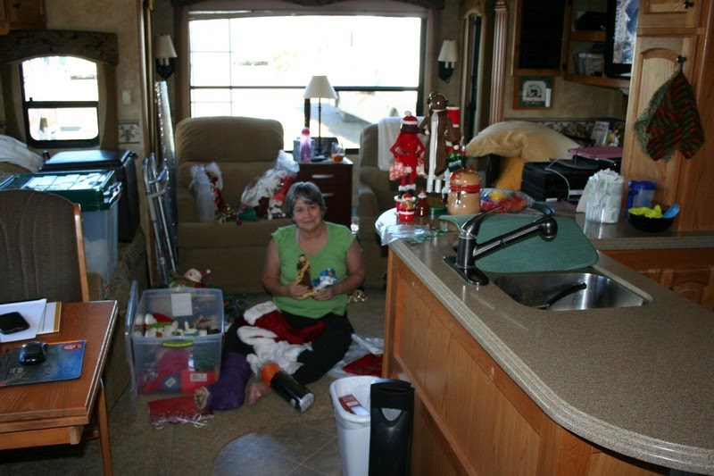 christmas decorating in the rv