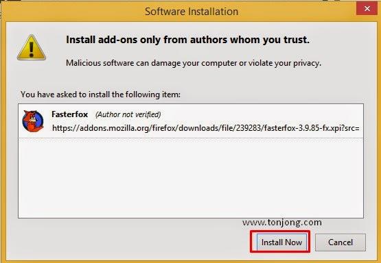 instal fasterfox