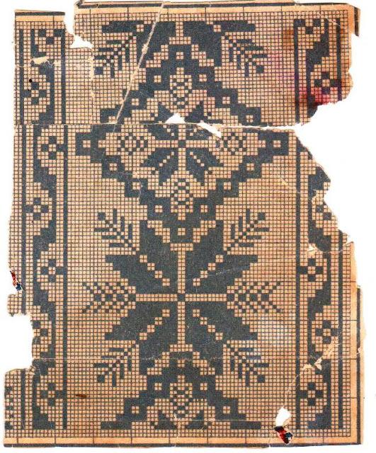 Узоры старинных вышивок схемы