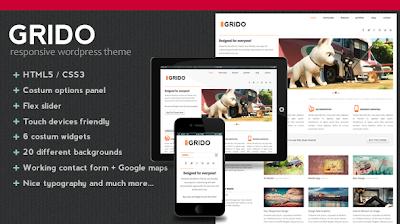 Grido, Responsive HTML5 Premium WordPress Theme