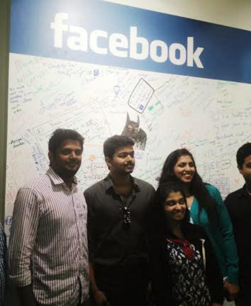 Vijay In Facebook Office