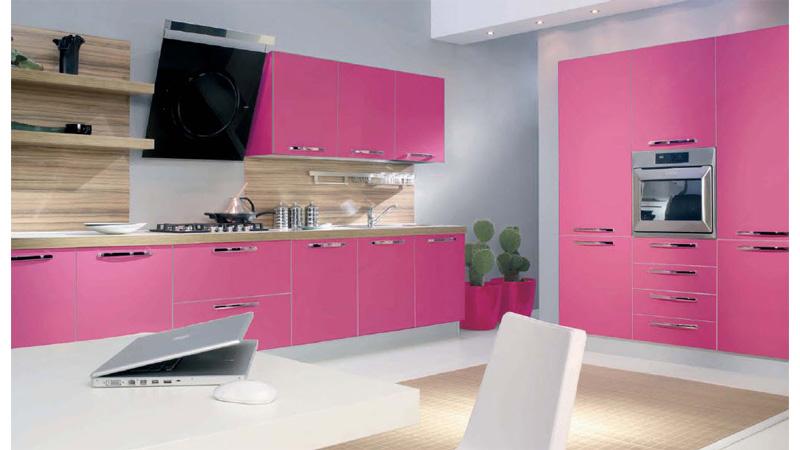 Pintura y madera cambia el estilo de tu cocina - Cocinas rosa fucsia ...
