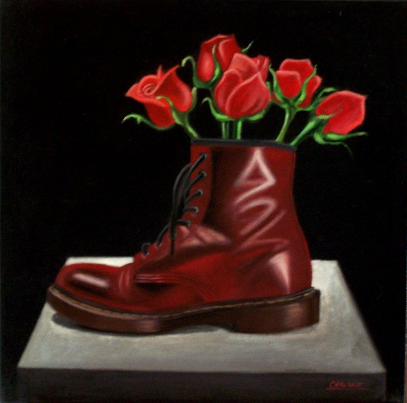 I dipinti di giuseppe cipriano un insolito vaso di fiori for Fiori dipinti a olio
