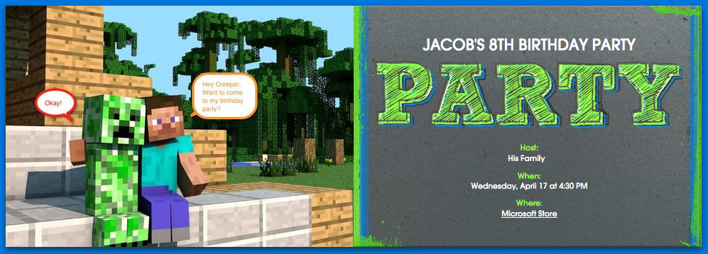 Houses Couches And Babies Minecraft Themed Birthday Party