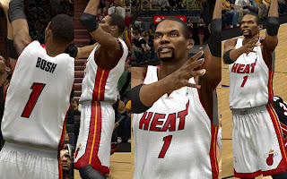 NBA 2K13 Miami Heat Home Jersey Mod