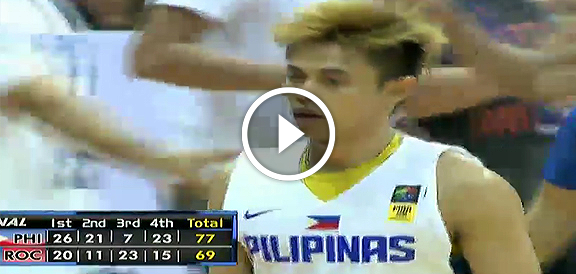 Jones Cup 2015: Gilas Pilipinas def. Chinese Taipei, 77-69 (VIDEO)