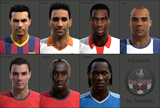 [PES 2013] Facepack August 2013 by Tunizizou