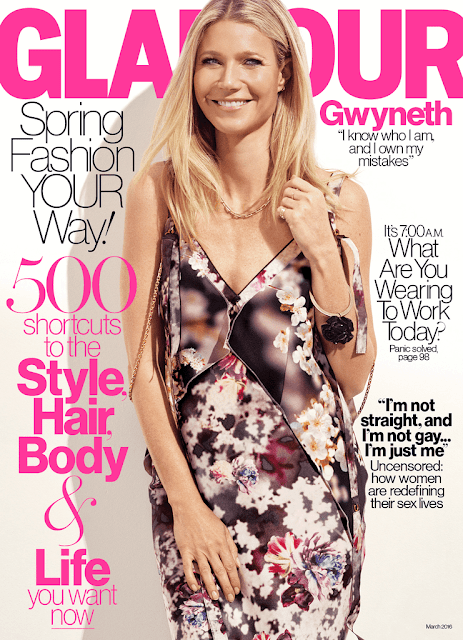 Actress, Singer, @ Gwyneth Paltrow - Glamour U.S, March 2016