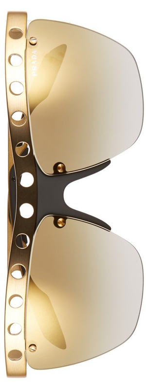 Prada 62mm Rimless Sunglasses in Bronze