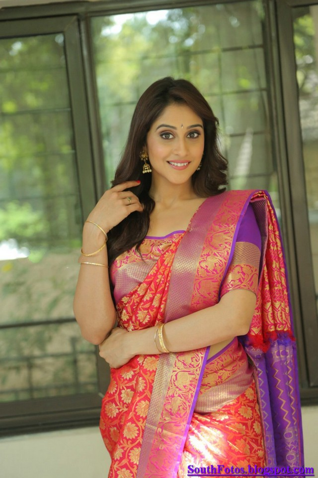 Regina Cassandra Hot in Saree Wallpaper