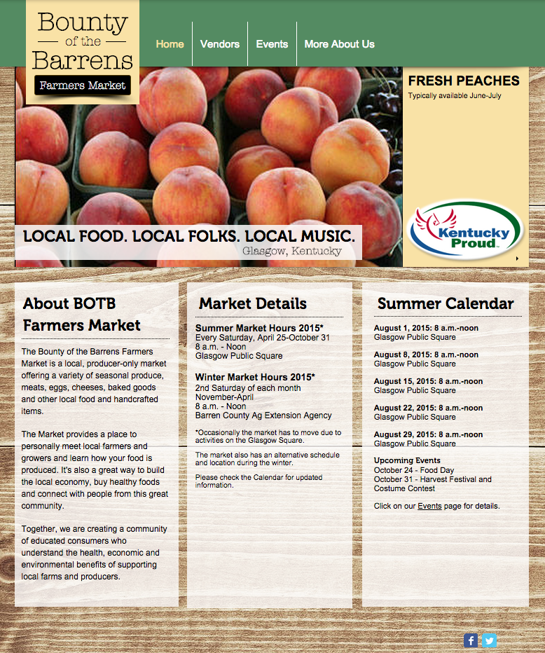 Sustainable Farmers Markets Farmers Market Website And