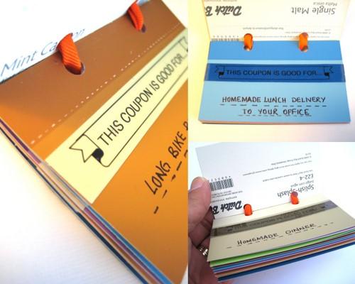homemade coupon book