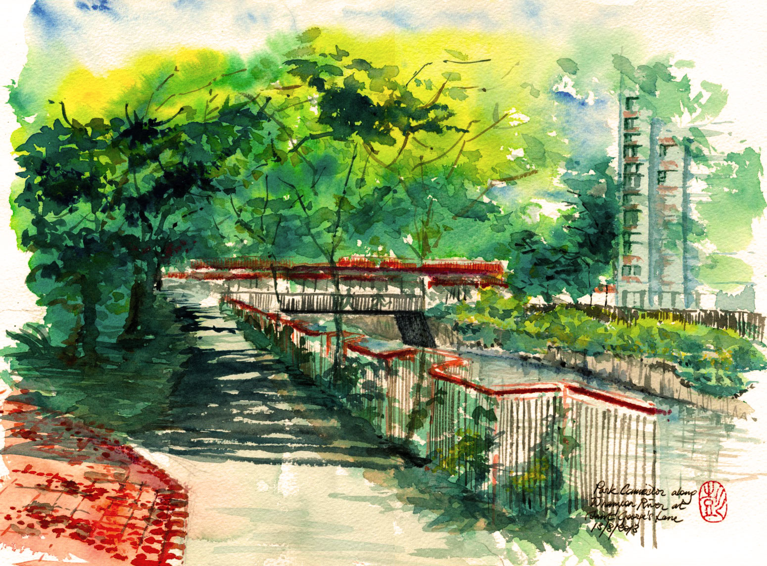 Whampoa River Case Along Whampoa River at st