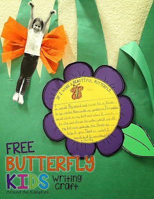 Free Butterfly Kids writing craft