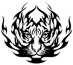 Motif Tato Singa Hitam Putih 17