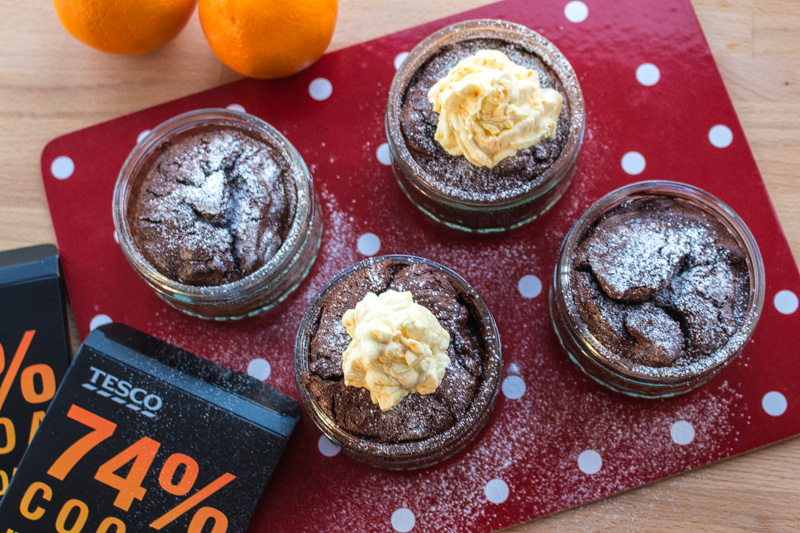 Flourless Chocolate Cake with Orange Cream | Svelte Salivations