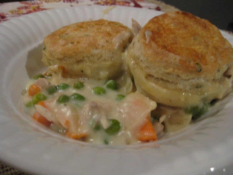 The Sweet Touch: Chicken Pot Pie with Peppery Chive Biscuits