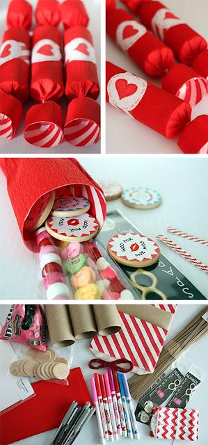 felt fortune cookie valentines - Valentine Ideas For Classmates