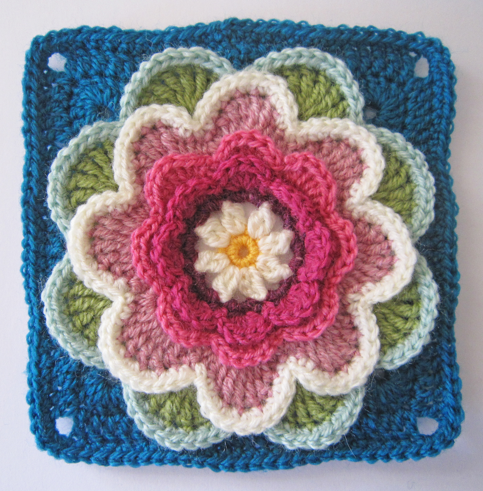 Knit Crochet Design Lily Pond Cal Block Five