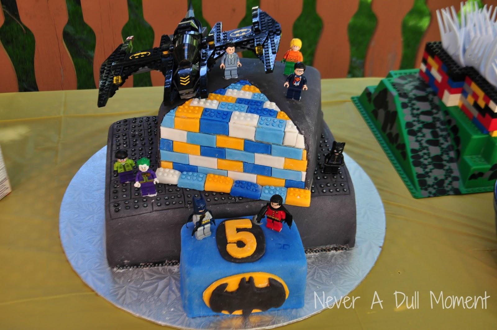 Birthday Cake Ideas Lego : Never A Dull Moment: Lego Batman Birthday Cake