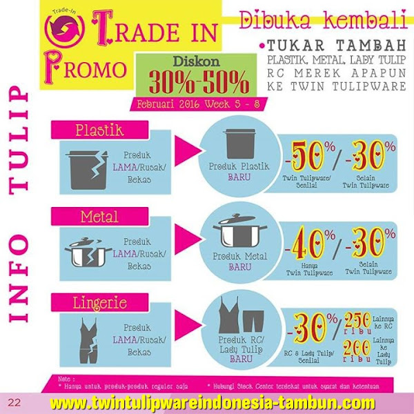 Promo Trade In Diskon 30% - 50% Feb 2016