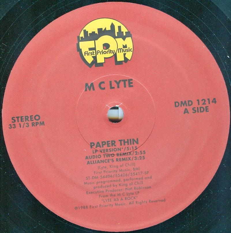 mc lyte paper thin