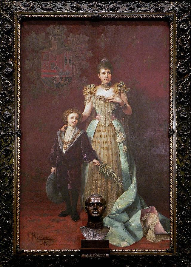 María Cristina y Alfonso XIII