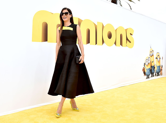 Eniwhere Fashion   Sandra Bullock   Minions Shoes   Sanderson