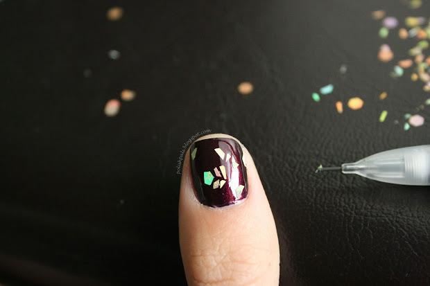 nail polish paint glass papillon