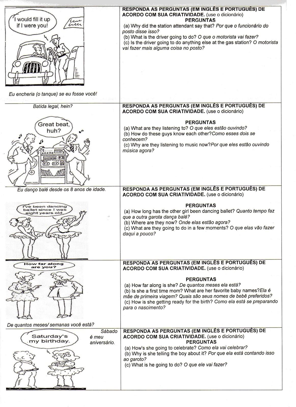 ATIVIDADES DIVERSAS CLÁUDIA INGLÊS 1 ATIVIDADES DE INGLÊS TRADUÇÃO -> Banheiro Feminino Em Ingles Traducao