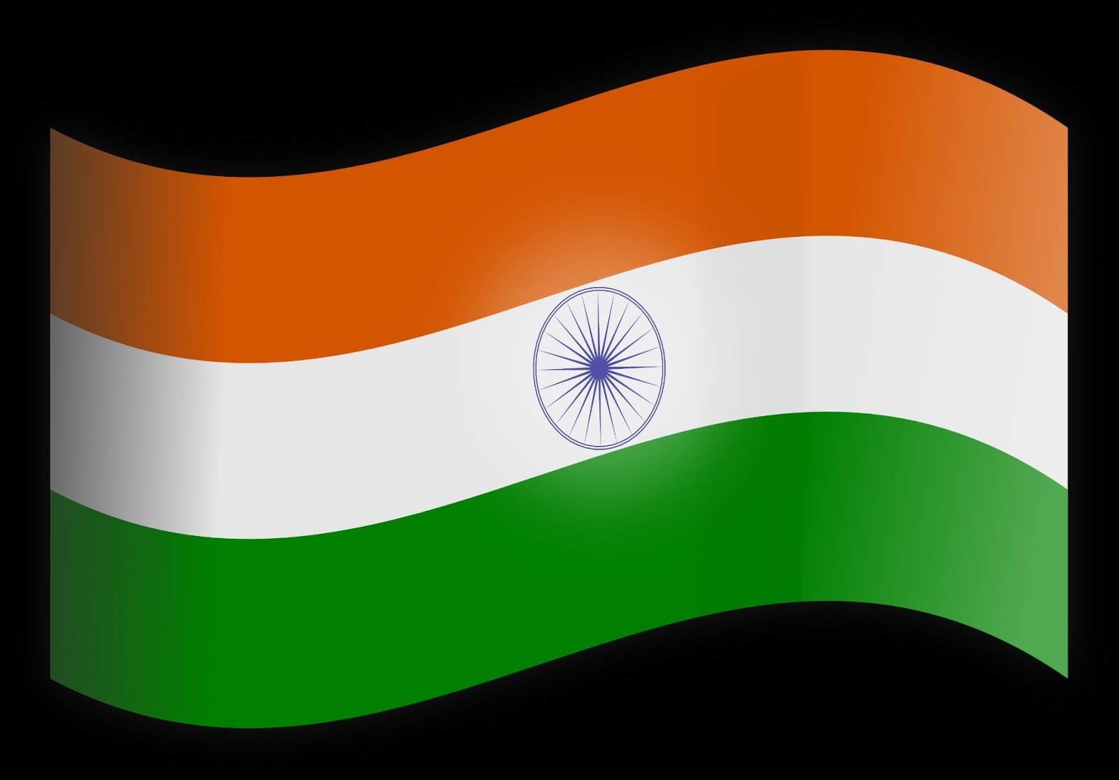 Stylish Indian Flag For Happy Independence Day Wishes HD Flying Wallpaper