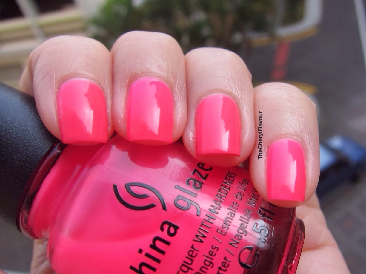 China Glaze Peonies & Park Ave vs China Glaze Heat Index