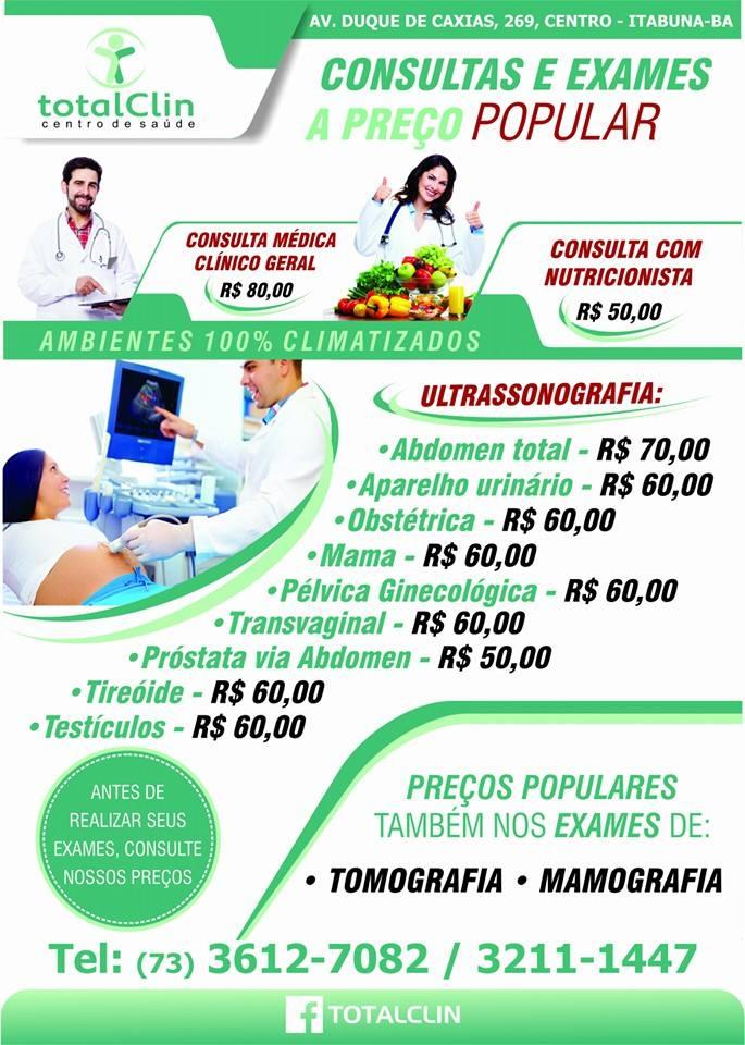 Conheça a Total Clin sua Clínica de Saúde em Itabuna-Ba