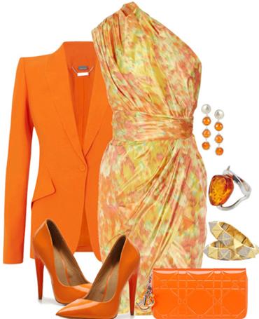 Orange Outfits Designs Ideas...