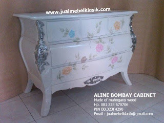 Indonesia classic furniture supplier white painted furniture buffet classic white painted