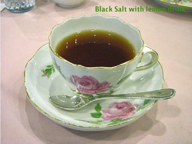 Lemon black salt drink