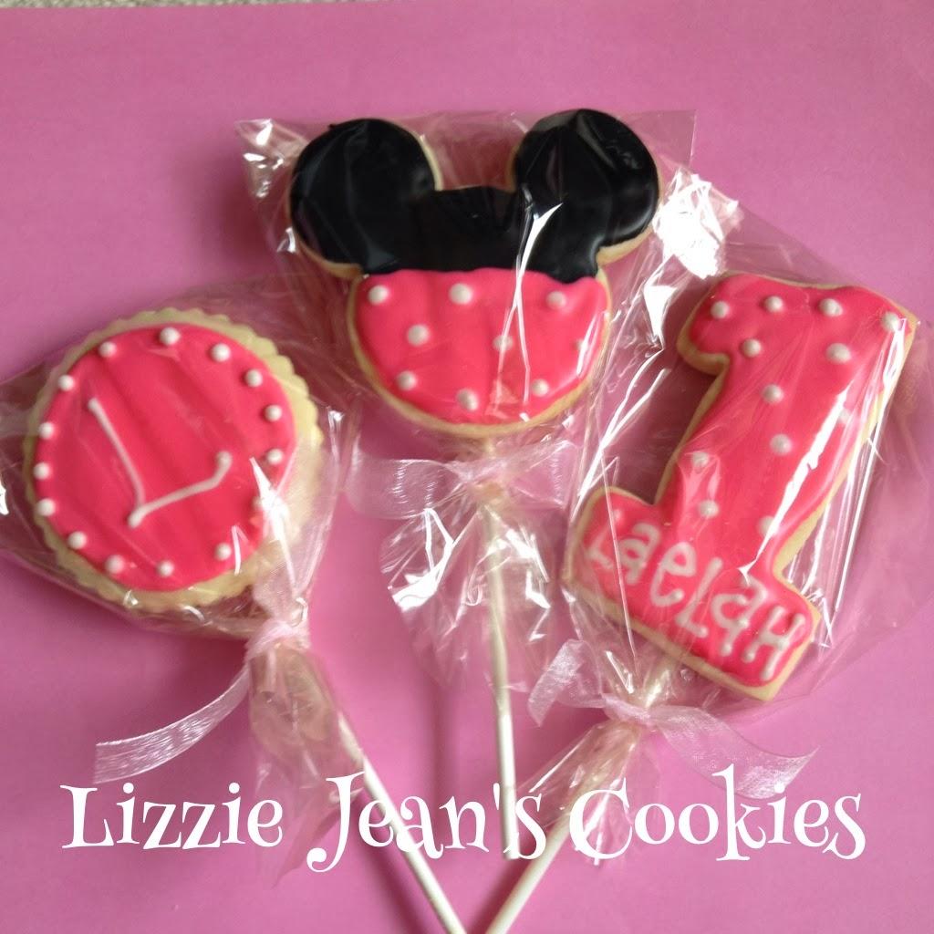Lizzie Jean\'s Cookies: Minnie Mouse Sugar Cookies & Cookie Bouquet