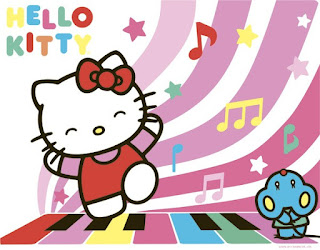 Gambar Hello Kitty Menari dan Bernyanyi Animasi Bergerak Dancing Terbaru