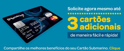 CARTÃO SUBMARINO- FATURA MASTERCARD