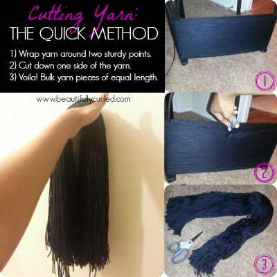 Beautifully Curled: Quick Method for Cutting Yarn for Yarn Wraps