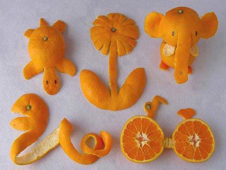 Funny orange carving art 4