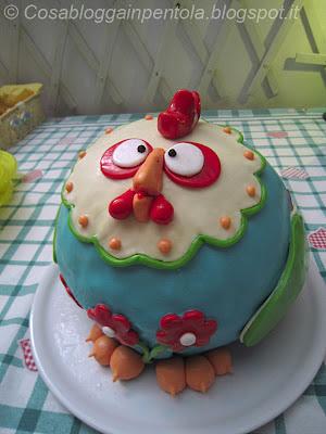 cake chicken torta pollo cake design semifreddo nocciola vaniglia caffè bisquit ricetta cosa blogga in pentolacosabloggainpentola