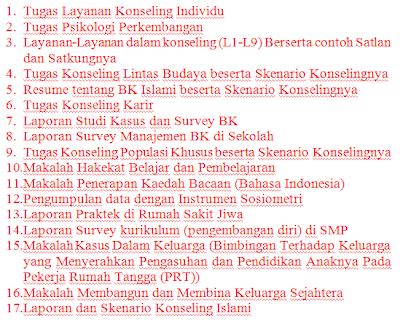 Berikut ini disediakan beberapa makalah/tugas mata kuliah-mata kuliah ...