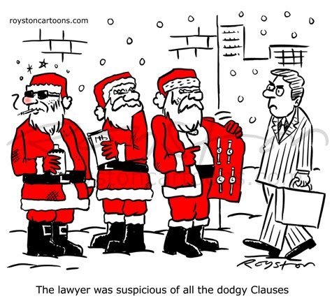 Royston Cartoons Cartoon Advent CalendarDay 6 Clause